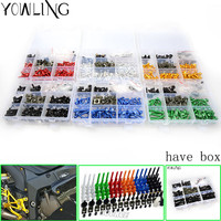 76PCS Motorcycle Accessories Fairing body work Bolts FOR BMW Kawasaki yamaha Suzuki GSXR GSX R 600 750 1000 K1 K2 K3 K4 K5 K6