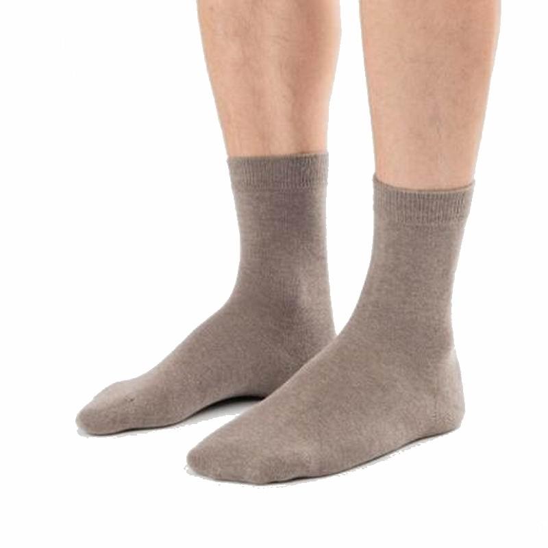 New Mens Socks 100% Cotton 5 pairs/lot Solid Black Grey Socks Business in tube Socks Men Breathable Healthy Men Socks X9161