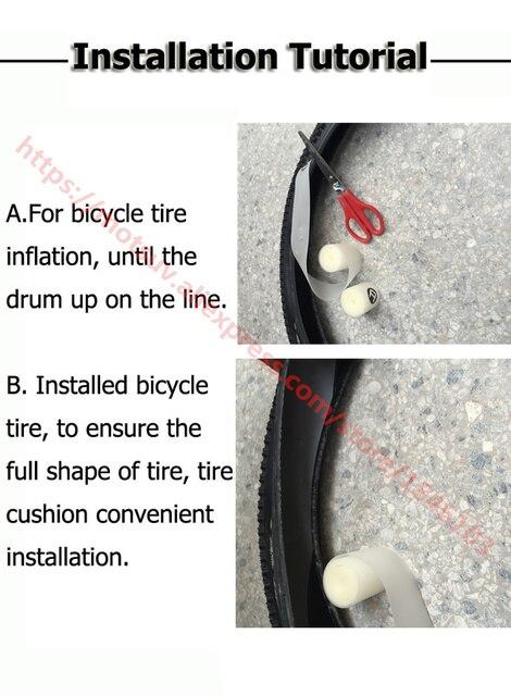 MTB Bicicleta de Estrada Pneus de Bicicleta linha de Proteção Do Pneu Cinto Forro À Prova de Punção 26/27. 5/29/700C almofada de proteção de pneus de bicicleta, 2 pcs 3