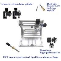 CNC 2418 With ER11 Diy Mini Cnc Laser Engraving Machine Pcb Milling Machine Wood Carving Machine