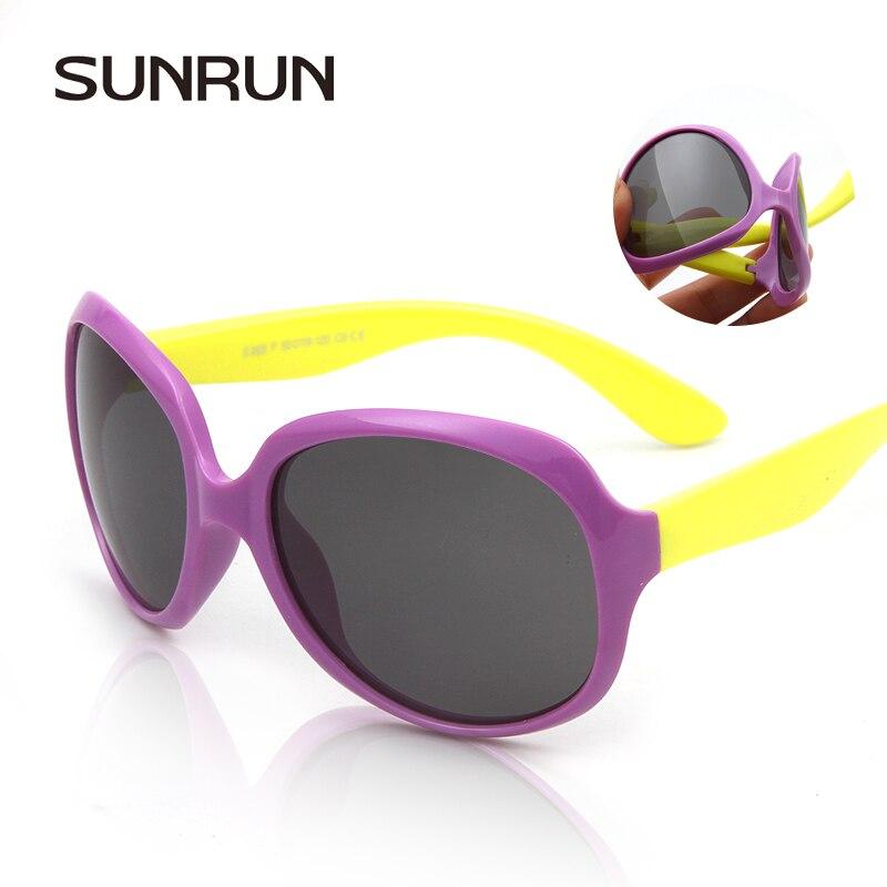 36058c24d0 SUNRUN Enfants de Marque Polarisées Lunettes bébé lunettes de soleil UV400  garçon filles De Mode grande boîte colorée Enfants soleil lunettes S889