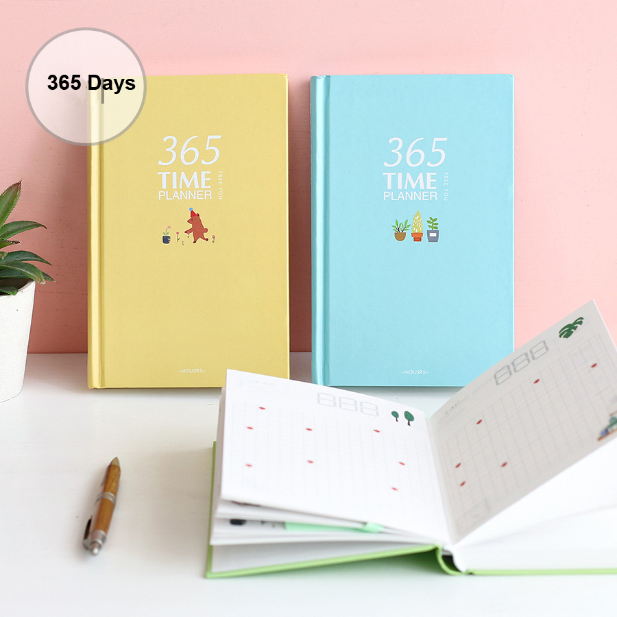 все цены на Korean 365 Days A5 Cute Planner Notebook School Stationery Store Agenda Diary Note Book Travel Journal Kawaii Office Week Plan