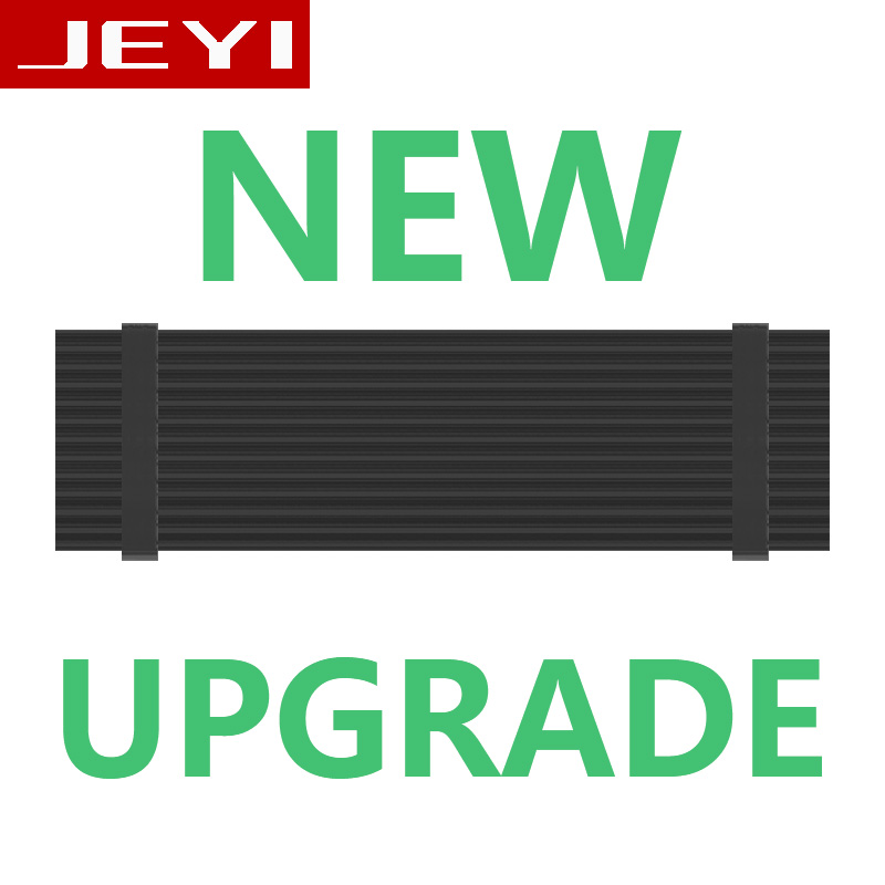 JEYI N80 N82 Heat dissipation gold bar NVME NGFF M.2 2280 aluminum sheet Thermal conductivity silicon wafer cooler vest armor heat sink dissipation aluminum cooling for sm961 960pro m 2 ngff nvme 2280 ssd