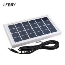LEORY 3W 6V Solar Panel Polycrystalline Silicon DIY Solar Cells System Module For 3.7V Battery Charger DC 6V Outputs