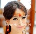 Новая Мода Великолепный Красный Кристалл женщин Тиара волос Благородный Горный Хрусталь Золотая корона для Невесты Невесты свадебные украшения Для Волос
