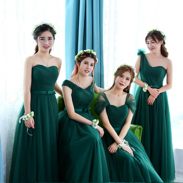 placeholder Robe De Soriee Emerald Green Bridesmaid Dress Elegant Bride  Party Married Gown Cheap Prom Dress Under f693fd1214cc
