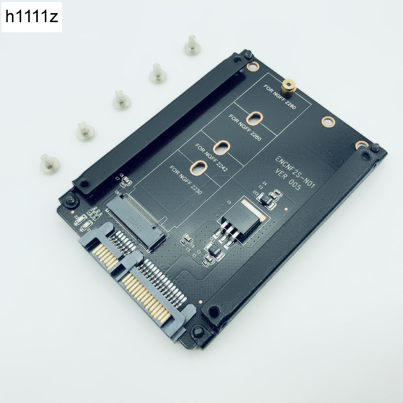 H1111Z Add On Card M.2 <font><b>to</b></font> <font><b>SATA</b></font> <font><b>M2</b></font> <font><b>to</b></font> <font><b>SATA</b></font> Adapter <font><b>M2</b></font>/M.2 <font><b>SATA</b></font> Adapter M.2 NGFF B+M Key Metal Case for 2230 2242 2260 <font><b>2280</b></font> <font><b>M2</b></font> SSD image