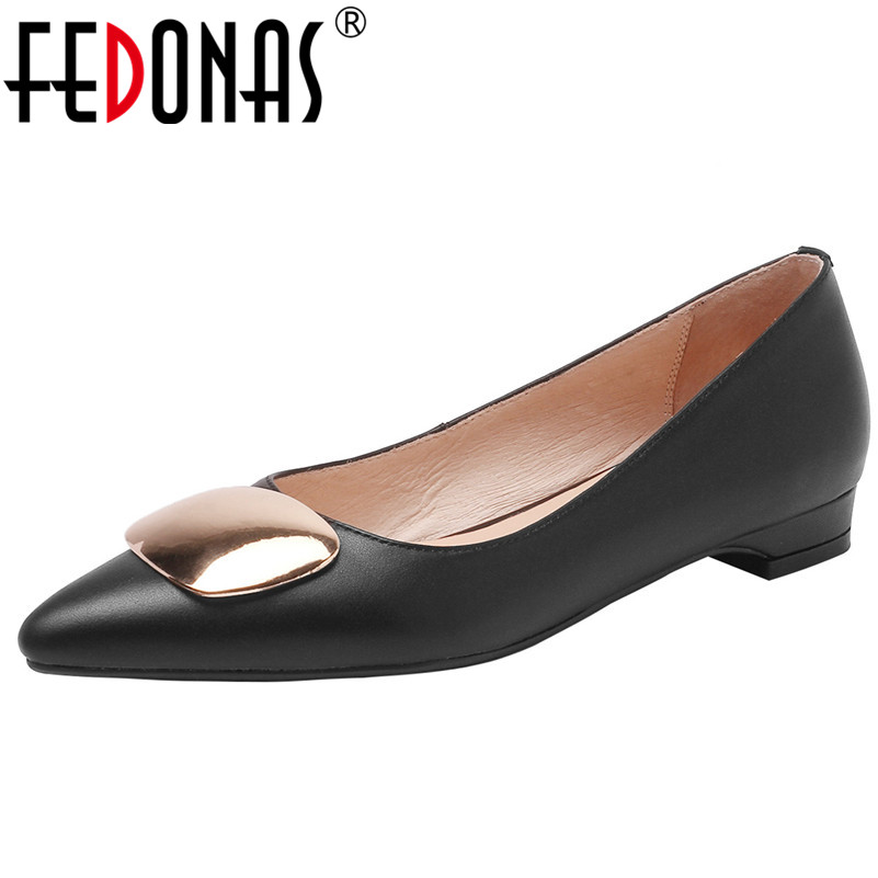 FEDONAS Basic Pumps For Women Sexy Genuine Leather Low Heels Slip On Party Wedding Shoes Woman High Quality Office Pumps Shoes FEDONAS Basic Pumps For Women Sexy Genuine Leather Low Heels Slip On Party Wedding Shoes Woman High Quality Office Pumps Shoes