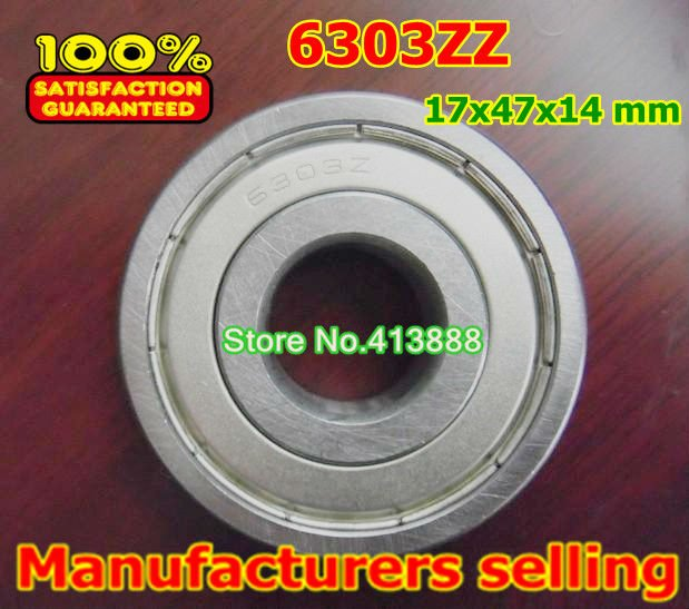 Factory direct sale 6303 6303ZZ 6303-2Z 6303Z 80303 17*47*14 mm High quality deep groove ball bearing 10pcs/lot gcr15 6326 zz or 6326 2rs 130x280x58mm high precision deep groove ball bearings abec 1 p0