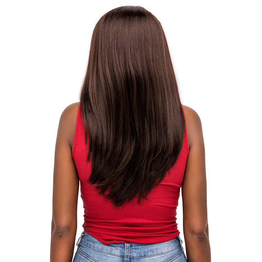 Straight Synthetic Hair Wigs For Black Women X TRESS Light Brown Ombre Color Heat Resistant Fiber Lace Front Wig With Baby Hair in Synthetic Lace Wigs from Hair Extensions Wigs