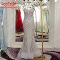 Dubai Sirena Diamante Rhinestone Vestidos de Noche 2017 Largo Con Cuentas de Plata de Lujo de Compromiso Prom vestidos vestidos de festa XE330