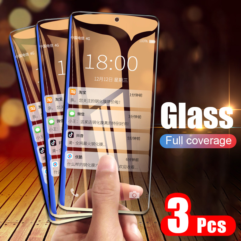 Moopok 3Pcs 9H Full Screen Protector Tempered Glass For Huawei P30 P20 P10 Lite Protective Glass For Huawei P Smart Mate 20 Film