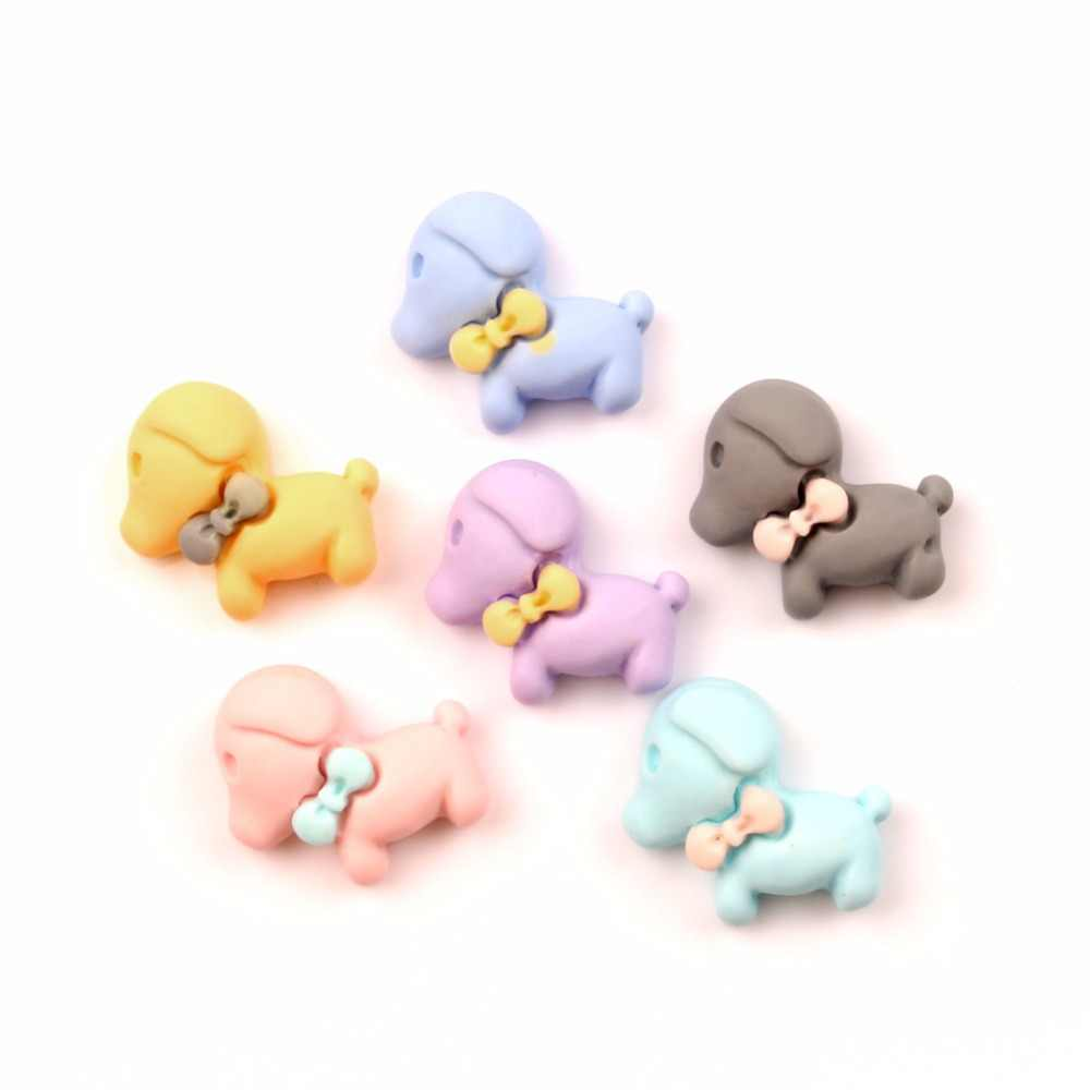 30Pcs Resin Dog Decoration Crafts Cute Kawaii Beads Flatback Cabochon Embellishments For Scrapbooking DIY Accessories