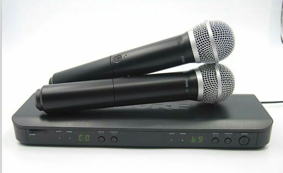 For Reseller! BLX288 Professional UHF Wireless Microphone System Dual Handheld Mic BLX 288 PRO CORDLESS DUAL MICROPHONE dual handheld wireless microphone system uhf frequencies adjustable professional cordless mic 2 channels for karaoke live show