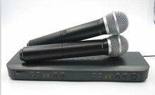Pour Revendeur! professionnel UHF Sans Fil Microphone Système Double De Poche Micro Canal Sélectionnable PRO SANS FIL DOUBLE MICROPHONE