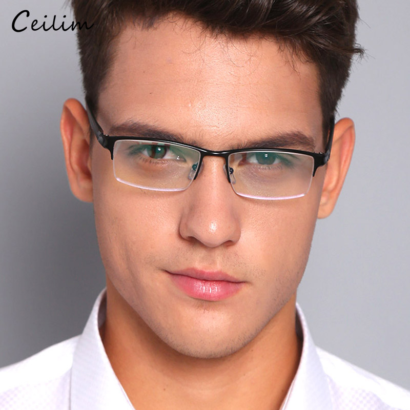 2020 New Anti Blue Light Glasses Men Computer Gaming Goggles Male Bussiness Spectacles Frames Aluminum Clear Lens Fake Glasses