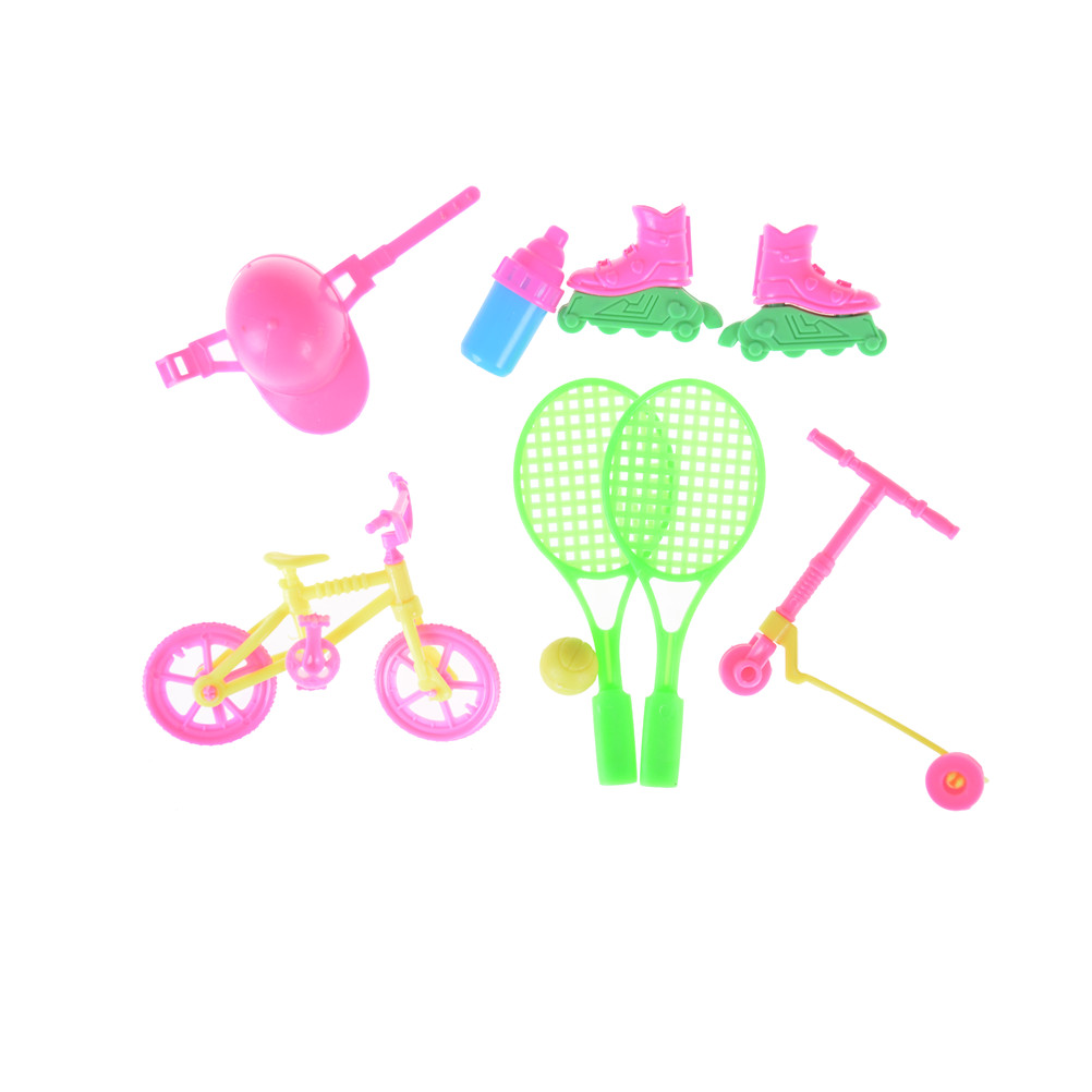 Dolls Accessories Delicious Toyzhijia Hot 1set For Barbie House Dolls Girls Best Gifts Bicycle Tennis Skating Shoes Helmet Sport Accessory Keep You Fit All The Time Dolls & Stuffed Toys