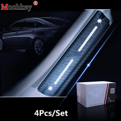 Dla Jeep Grand Cherokee 2011 do 2018 dla dodge durango 2011 do 2018 uszczelka do drzwi samochodu 4D naklejki z włókna węglowego płyta chroniąca przed zarysowaniem w Naklejki samochodowe od Samochody i motocykle na