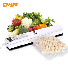 Cymye Black Food Vacuum Sealer QH01 Packaging Machine 220V including 15Pcs bag Vaccum Packer can be use for food saver