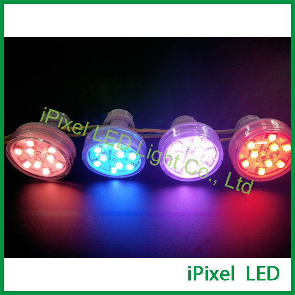 Led AUTO 9 leds rgb 45mm led pixel rgb diversões led AC24V