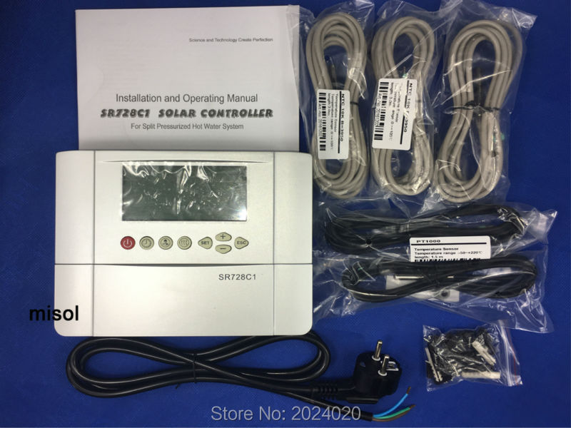 110V controller of solar water heater with 5 sensors, for separated pressurized solar hot water system