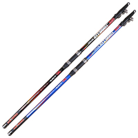 4.2M 4 section telescopic 100g 300g CW surf casting fishing rod high quality rods