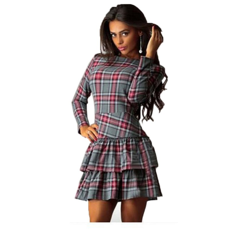 Popular Plaid Cocktail Dress-Buy Cheap Plaid Cocktail Dress lots ...