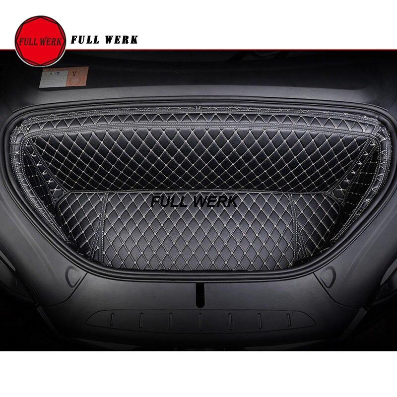 Protection de coffre de voiture avant protection de coffre tapis de coffre protection de doublure de cargaison pour Tesla modèle X 2016-2017 Auto accessoires d'intérieur