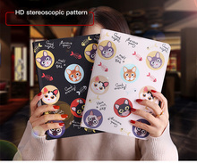 Tablet Protective Case For apple ipad mini 4 Flip smart stand cover pu leather Cute cat Cartoon illustration Cases A1538 A1550 lofter ladybird illustration protective pu leather case cover stand for retina ipad mini white