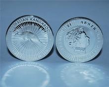 Hot selling! 2016 Australian Kangaroo Silver Coin 1 Oz 9999 Silver 1 Dollar high quality copy Australia Elizabeth II Silver Coin copy coin 1 1704 russia