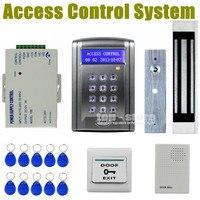 DIYSECUR Kit de Controle Remoto 180 kg £ 350 Elétrica Fechadura Da Porta Magnética de Controle de Acesso RFID 125 KHz Cartão de IDENTIFICAÇÃO de Segurança sistema