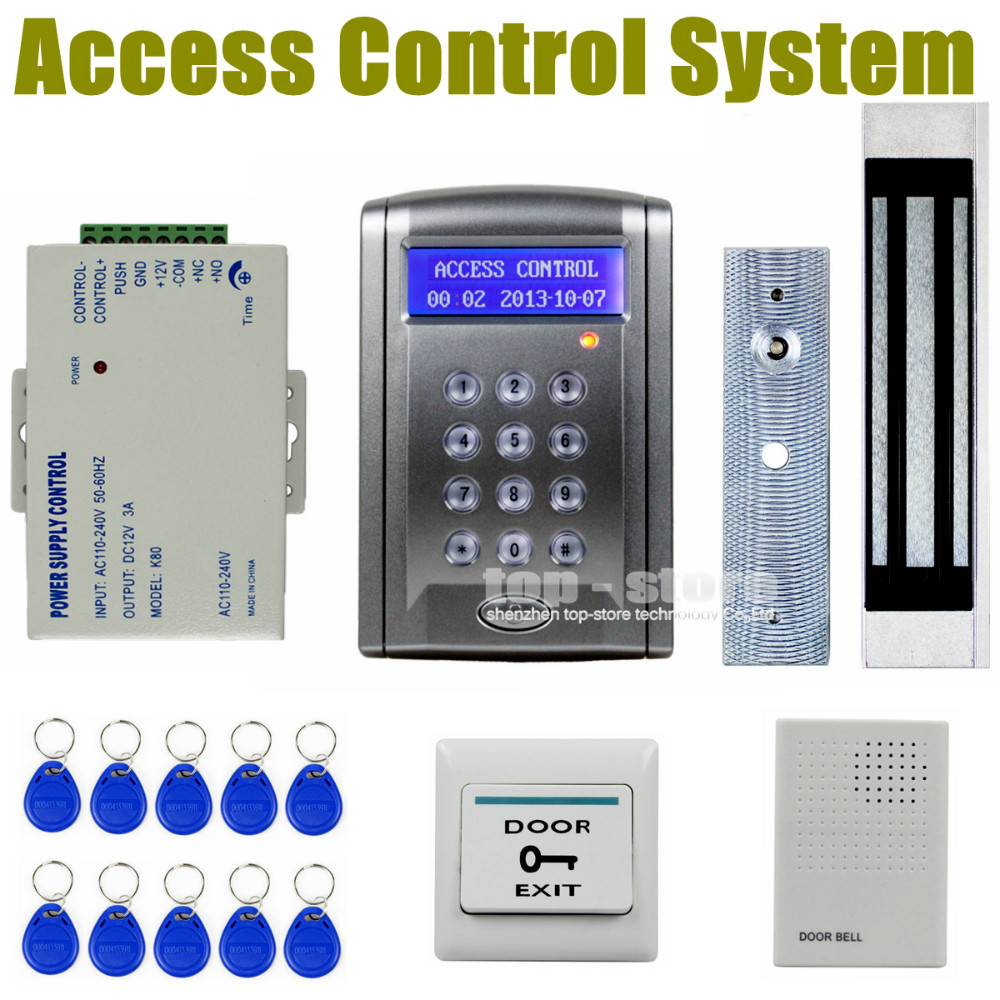 DIYSECUR Remote Control 180kg 350 LBs Kit Electric Magnetic Door Lock Access Control RFID 125KHz ID Card Security System diysecur magnetic lock door lock 125khz rfid password keypad access control system security kit for home office