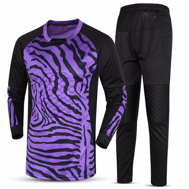 636dc298cb7 New Custom Football Goalkeeper Jersey Jerseys Sets Long Sleeve Kit Goalkeeper  Uniforms Tops Pants Trousers Hot
