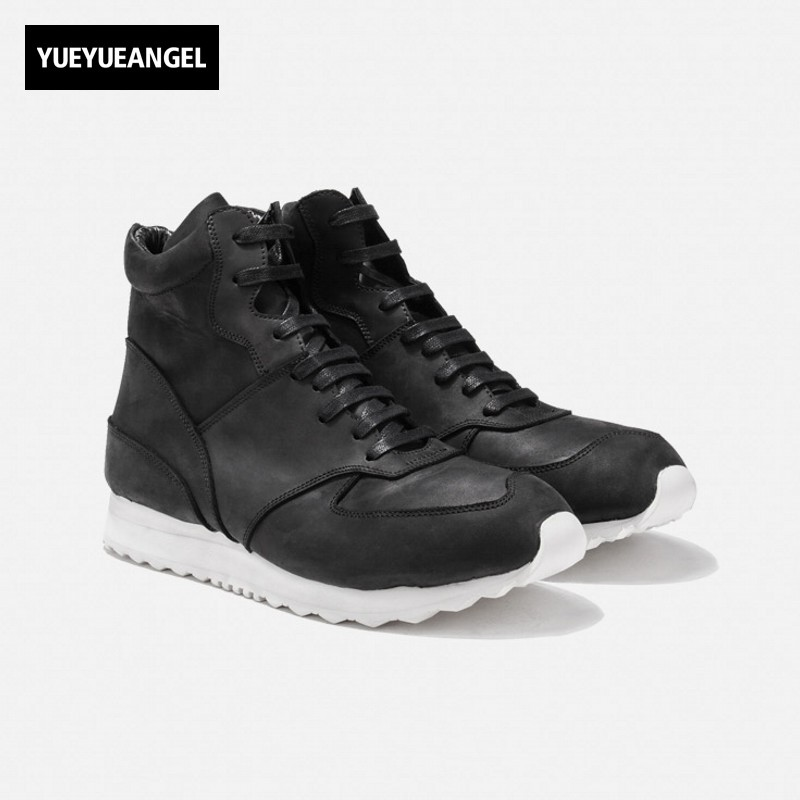Fashion Men Thick Platform High Top Winter Sneakers Harajuku Lace Up Casual Leather Shoes Tenis Masculino Adulto Trainers Shoes недорго, оригинальная цена