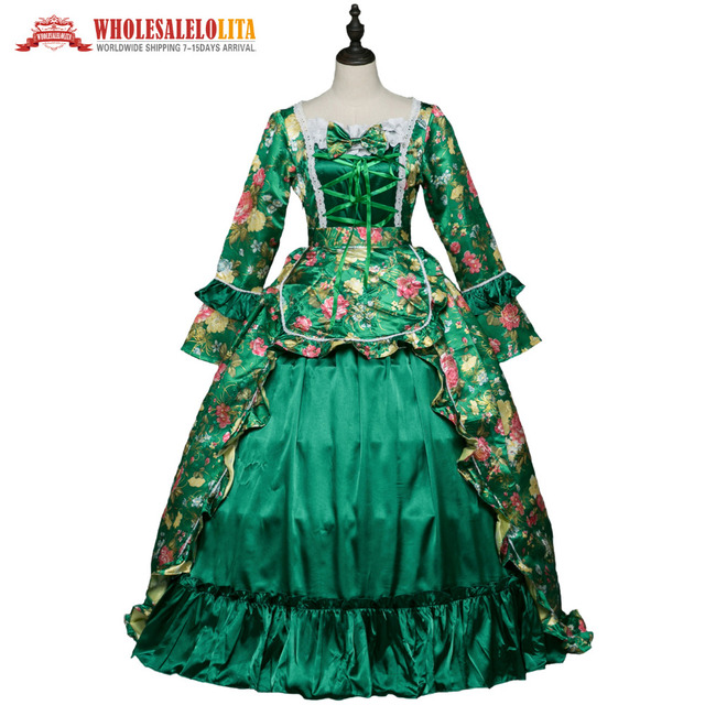 New Gothic Period Masquerade Dress Holiday Marie Antoinette Prom Gown  Victorian Rococo Dresses Inspired Costumes a33edc6c3ae2