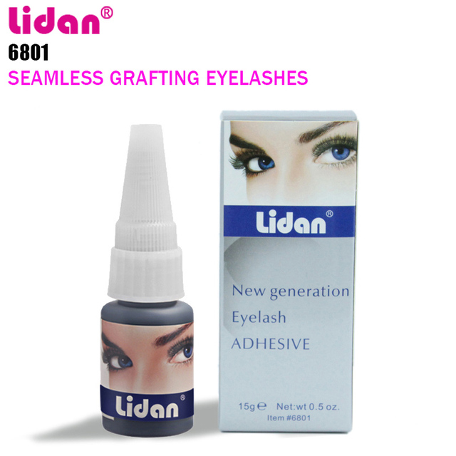 fe0ac146eef LIDAN Fast Drying Glue Professional Adhesive 15ML False Eyelashes Extension  Glue No Marry Marks Natural Rubber