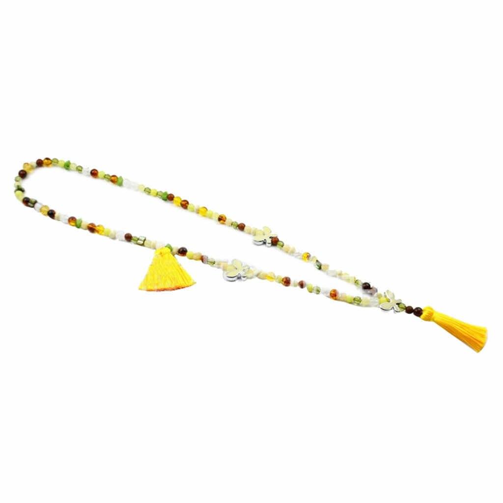 2019 ожерелья для мужчин для женщин Длинные чешские Ретро бабочка кулон кисточкой свитер с бисером цепи модные женские украшения 4,29