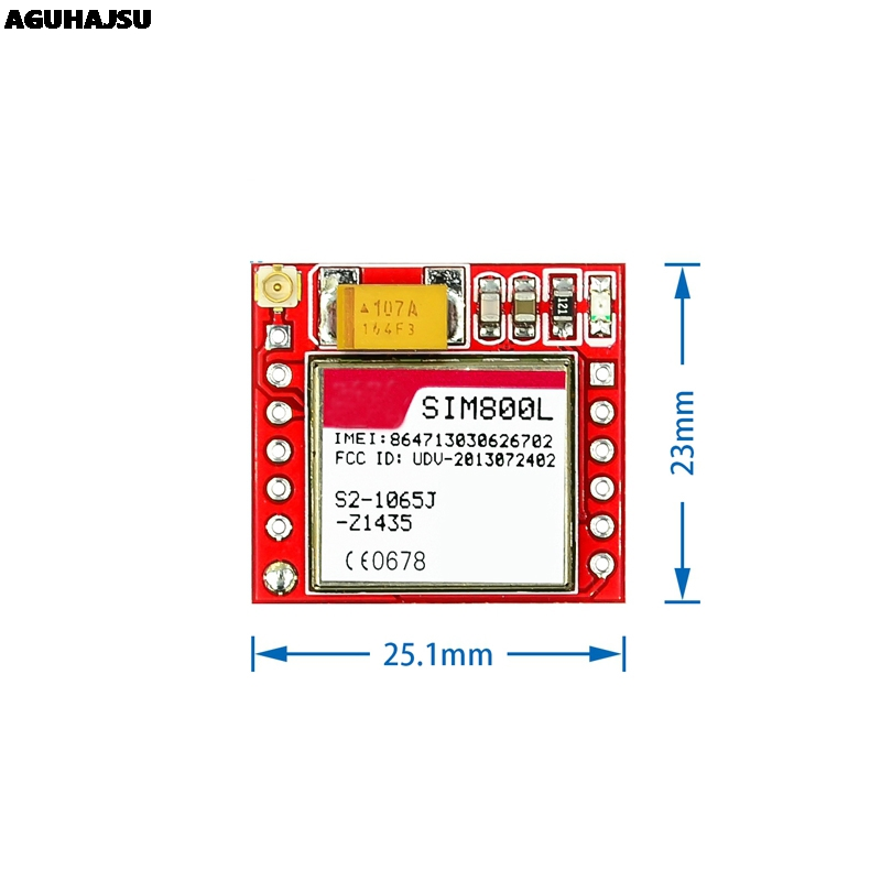 Smallest SIM800L GPRS GSM Module Kit MicroSIM Card Core BOard Quad-band TTL Serial Port with the antenna 3