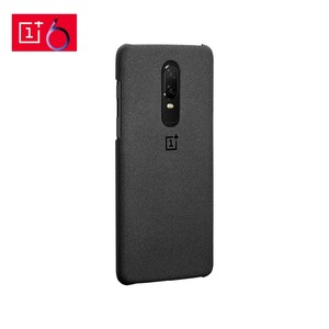 Image 2 - Official For OnePlus 6 Case Cover Original Sandstone Texture Hard PC Case Genuine One Plus 6 A6000 1+6 Cover Protective