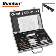 24PCS Professional Universal Gun Cleaning Kit Gun Brush Tool Hunting Airsoft Cleaning set Rifle Pistol Airsoft Cleaner Kit 37-92 цены