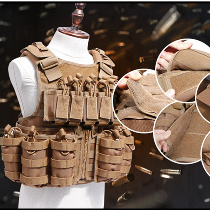 600D Nylon Molle Tactical Vest Anti wear Outdoor Hunting Shooting Camping Training CS Field Combat Gear Detachable Waistcoat - 5
