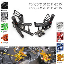 CNC Aluminum Adjustable Rearsets Foot Pegs For Honda CBR150 CBR125 CBR 150 125 2011 2012 2013 2014 2015 cnc aluminum adjustable rearsets foot pegs for honda cbr300rr cbr 300rr 2011 2012 2013 2014 2015