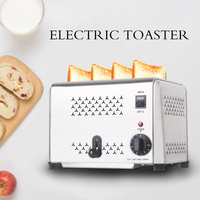 4 Slices Toaster Oven Machine Stainless Steel Digital Timer Control Bread Toasters Breakfast sandwich heater Baking Accessories