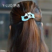 Women headwear flower hair clip vintage barrette cute pins rhinestone accessories for women
