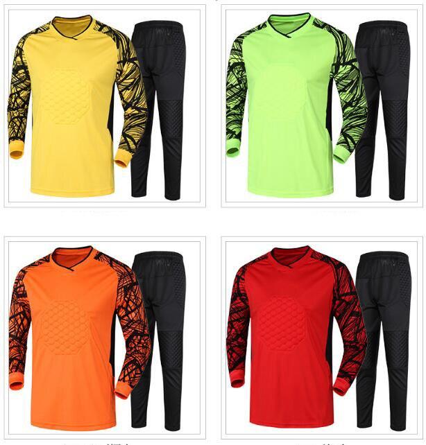 Мужские футбольные Джерси вратаря, футбольные комплекты 2018/19, униформа вратаря, тренировочные брюки, рубашка, короткий комплект
