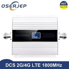 Amplificador de señal de teléfono móvil 4g Lte, 1800 MHZ, pantalla LCD, GSM, 2g, 4g, DCS 1800
