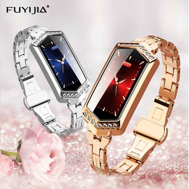 FUYIJIA HD mode montres intelligentes femme 2019 nouvelle montre GPS sport étanche dames montre Top marque multifonction horloge Feminino