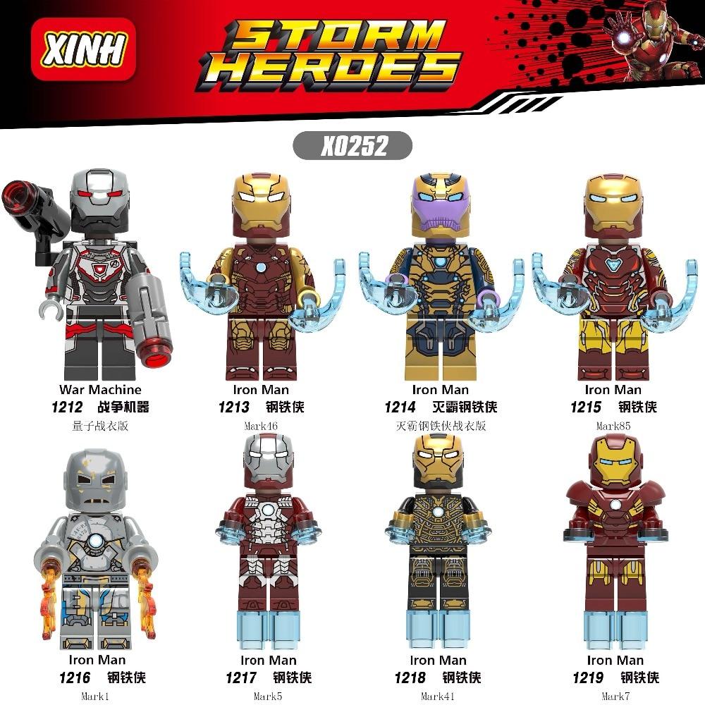 80pcs lot Building Blocks Marvel Super Heroes Iron Man Bricks War Machine Model Figures Building Blocks