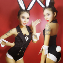Bunny uniform party bar ds costumes jazz dance performance clothing hot uniforms Sexy Bunny suit rabbits