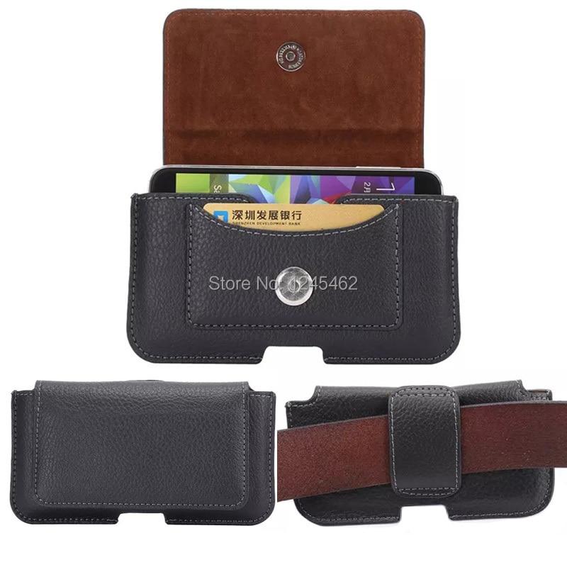 Černá kožená pouzdro na opasek pro iPhone 8 7 6S plus 5S SE kryt - Příslušenství a náhradní díly pro mobilní telefony